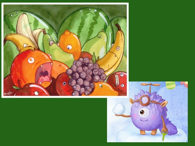 Fruitcraft trading card game design style