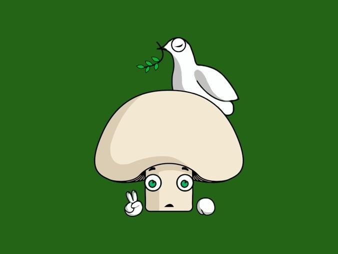 fruitcraft trading card game character, mushroom